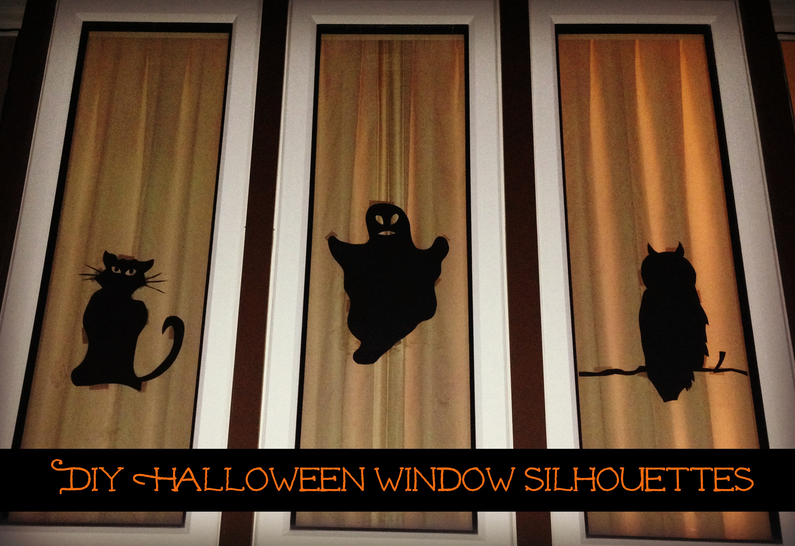 diy halloween window silhouettes - the naughty mommy