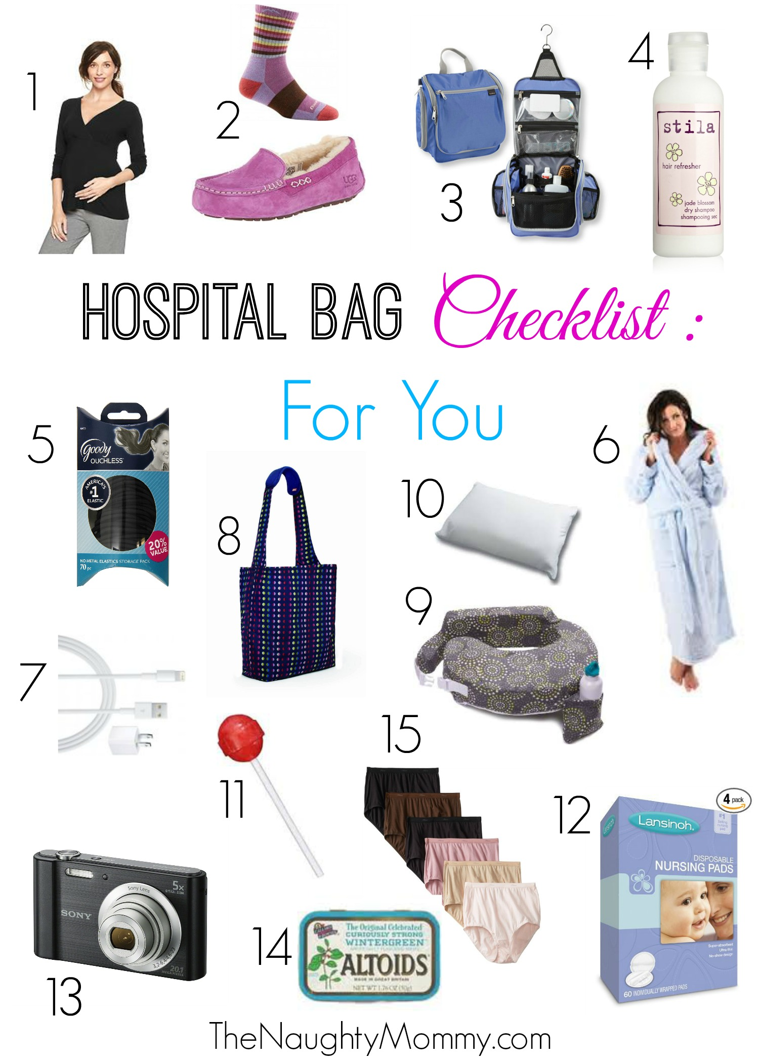 Hospital Bag Checklist The Naughty Mommy