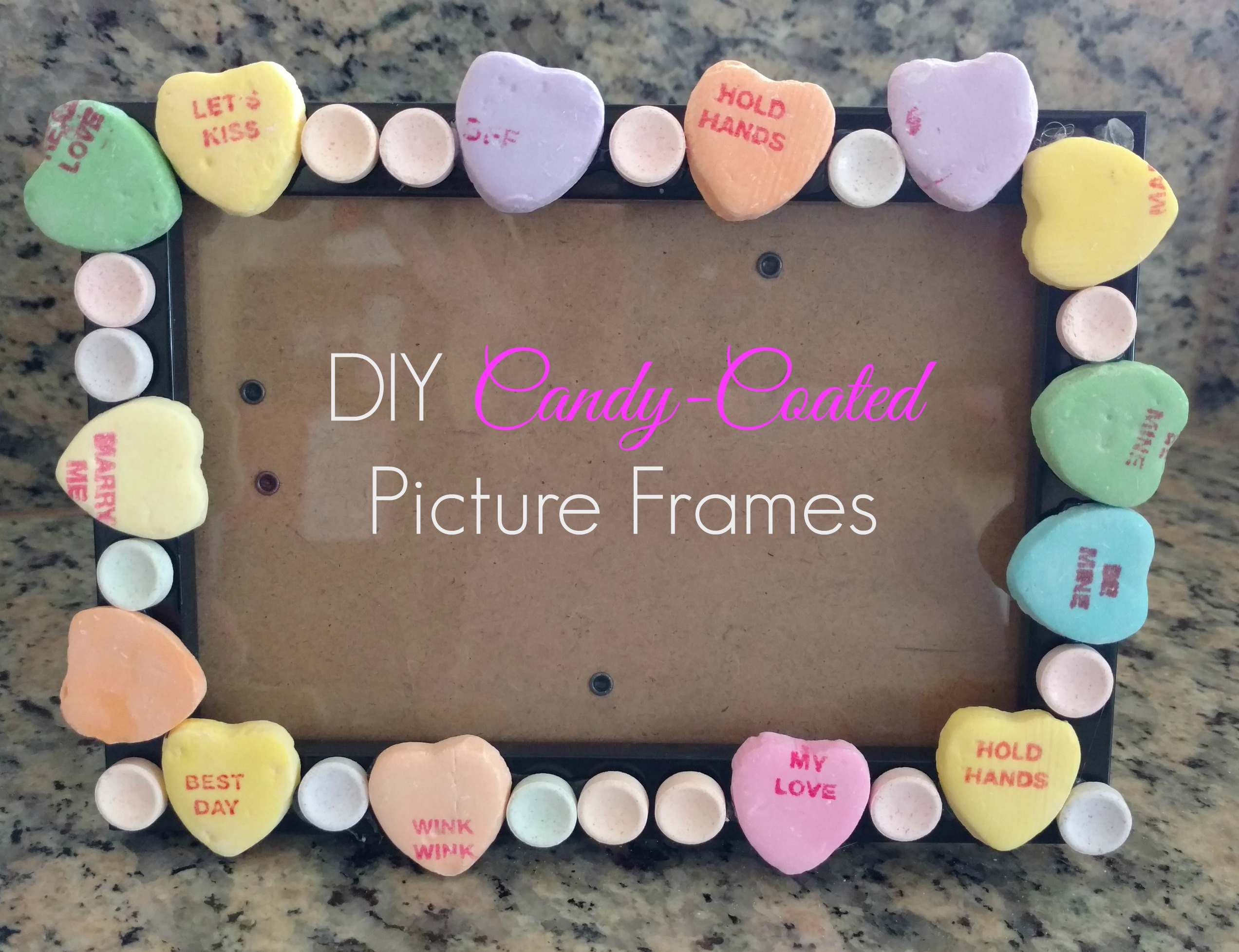 DIY Candy-Coated Picture Frames - The Naughty Mommy